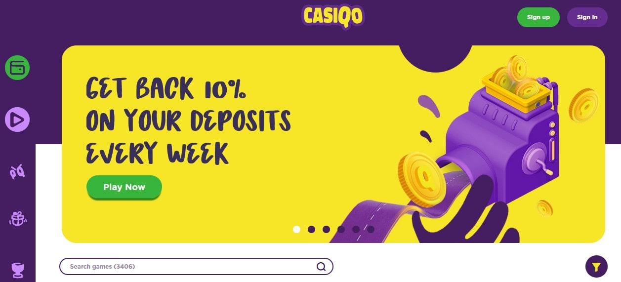Casiqo Casino Bonus