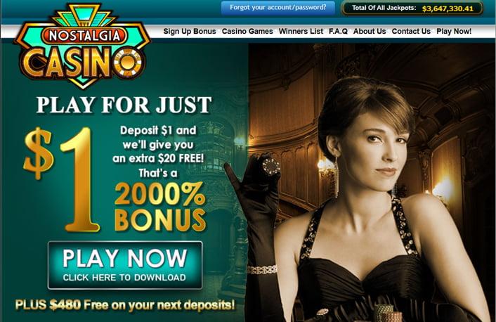 Nostalgia Casino Deposit