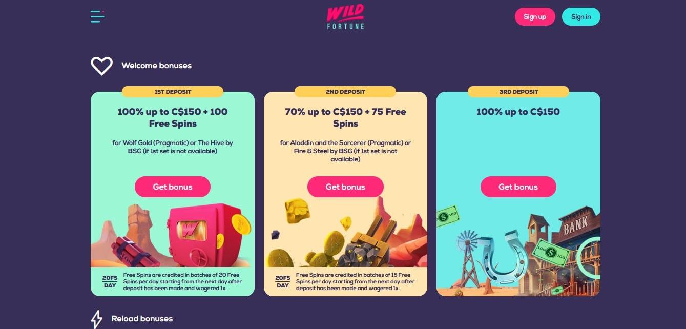 Wild Fortune Casino Promotions
