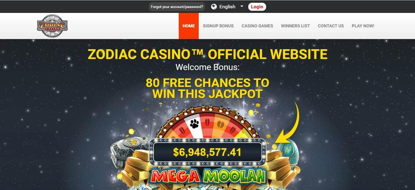 Zodiac Casino Online Bonus