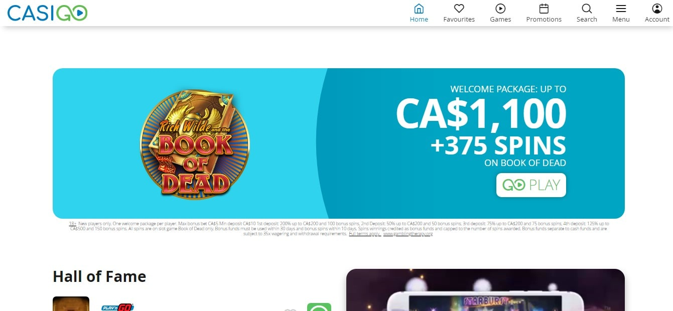 Casigo Casino Bonus