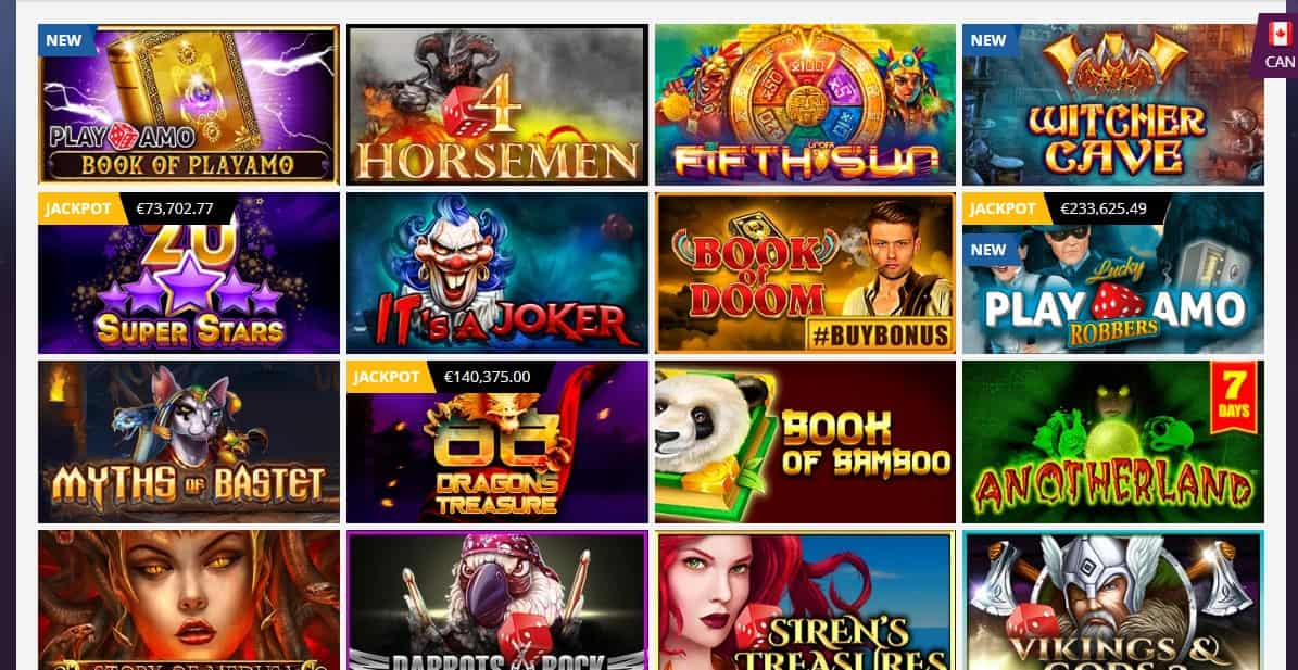 Playamo Casino Games