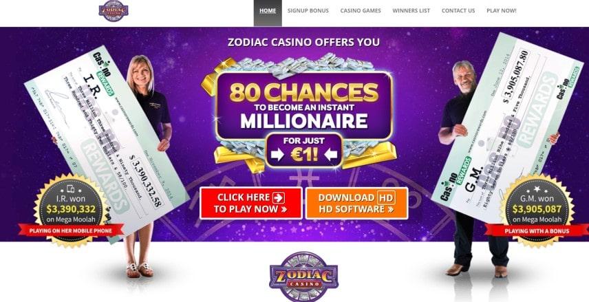 Zodiac Casino Win