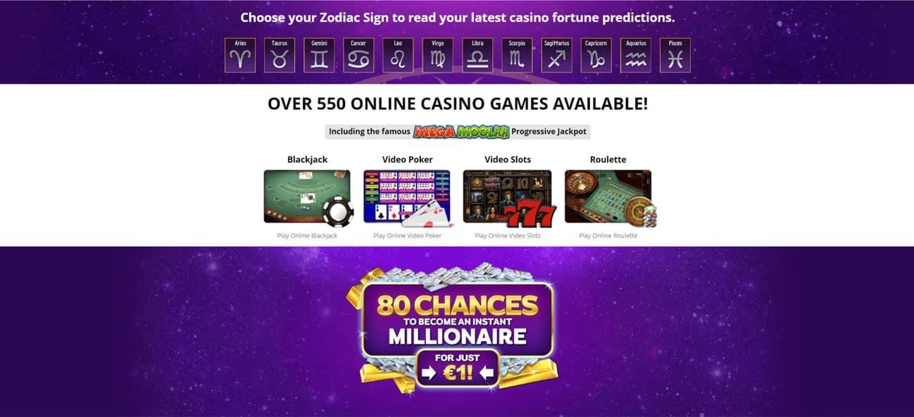 Zodiac Casino Online Games