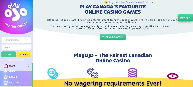 PlayOjo Casino Promotions