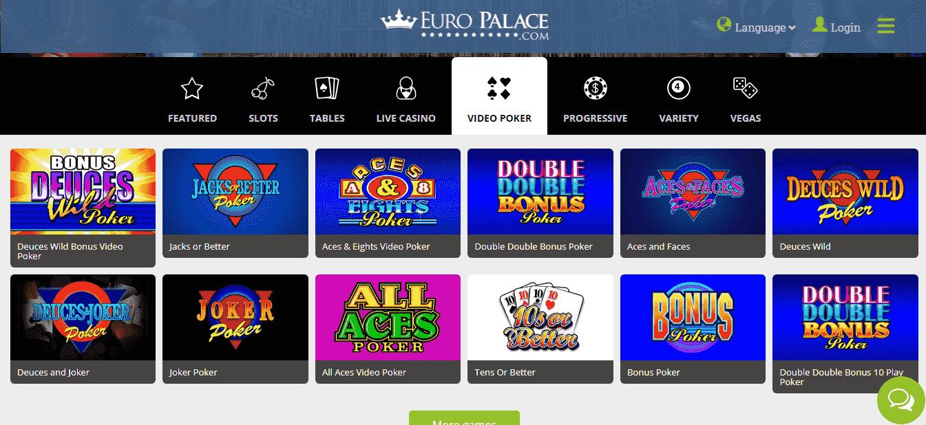 Euro Palace Casino Games