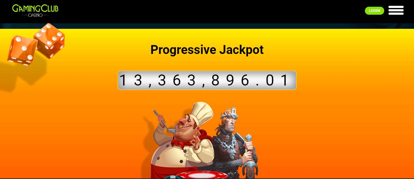 gaming club casino progressive jackpot