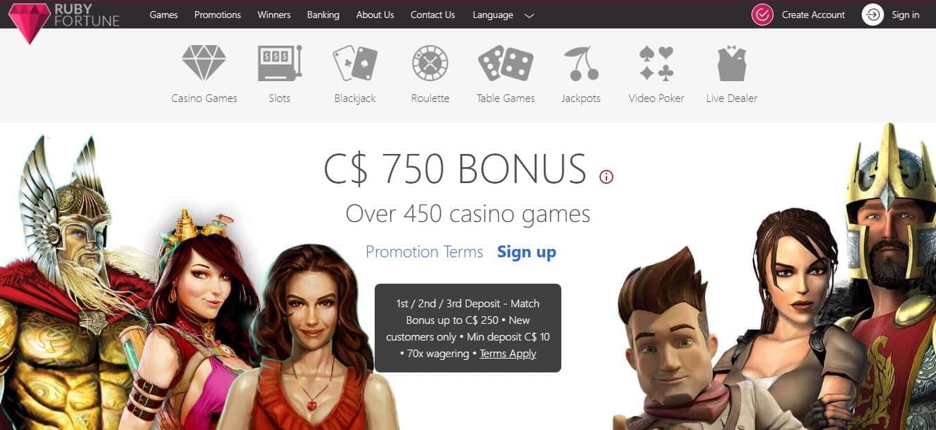 Ruby Fortune Casino Bonus
