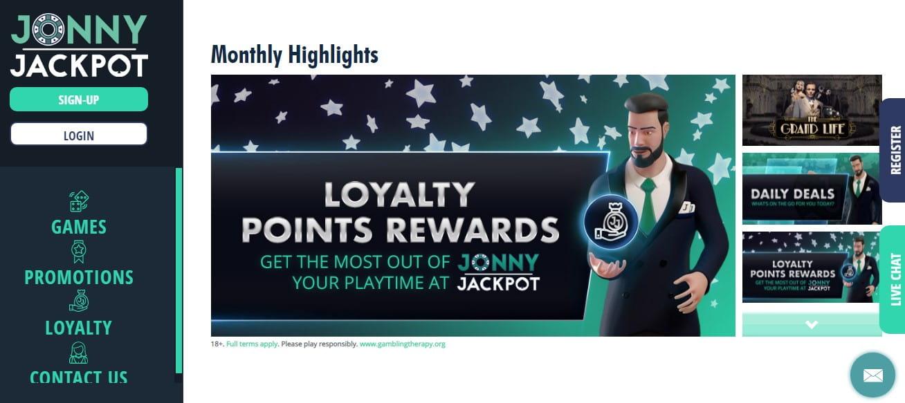 Jonny Jackpot Casino Loyalty