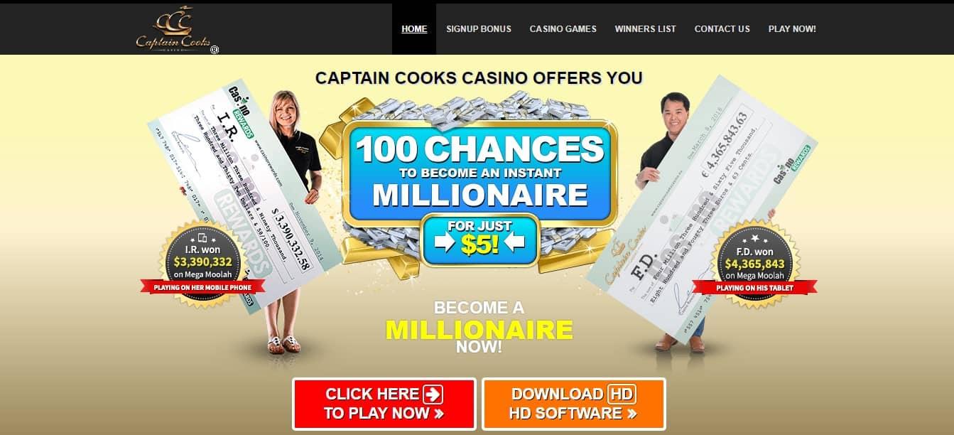 Captain Cooks Casino Promotions